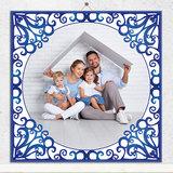 Delfts Blauw tegeltje met foto (nr. 30)