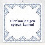 Delfts Blauw tegeltje (nr. 22)