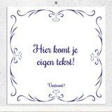 Delfts Blauw tegeltje (nr. 111)
