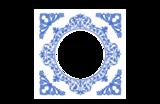 Delfts Blauw tegeltje met foto (nr. 68)