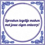 Spreuken tegeltje maken