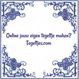 Oud Hollands tegeltje met tekst