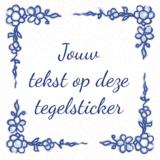 Delfts Blauwe TEGELSTICKER (nr.21)