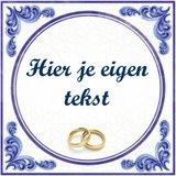 Huwelijk tegeltje (nr.62 met ringen)
