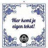Delfts Blauw tegeltje (nr.23 liefde 2)