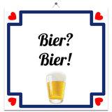 Tegeltje 'Bier? Bier'