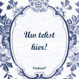 Delfts Blauw tegeltje (nr. 107)