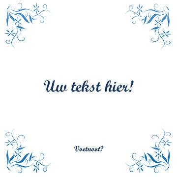 Delfts Blauw tegeltje (nr. 110)