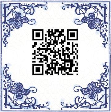 QR Code tegeltje (nr.1)