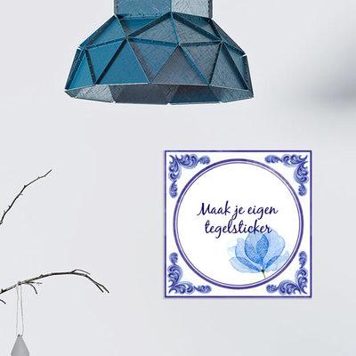 Delfts Blauwe TEGELSTICKER (nr.62)