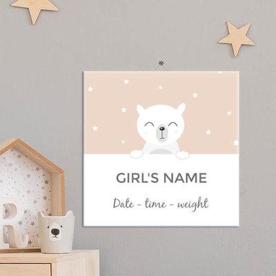 Geboorte Tegel meisje (nr.11)
