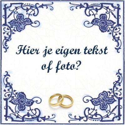 Huwelijk tegeltje (nr.23)
