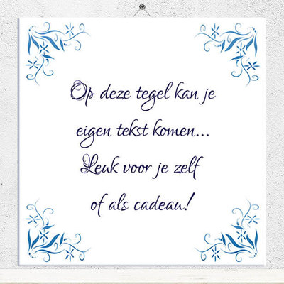 Delfts Blauw tegeltje (nr.110)