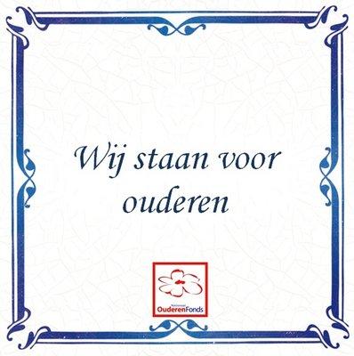 Delfts Blauw tegeltje (nr. 33 met logo)