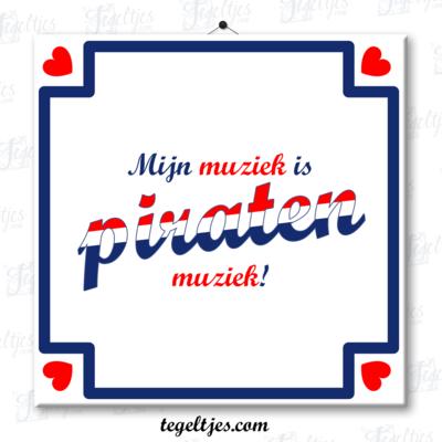 Tegeltje 'Piratenmuziek'