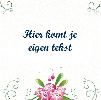 Tegeltje bloemen (nr.40)