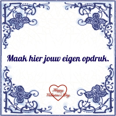 Delfts Blauw tegeltje (nr.23 liefde 3)