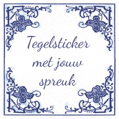 Delfts Blauwe TEGELSTICKER (nr.23)