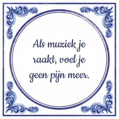 Als muziek je raakt, voel je geen pijn meer.