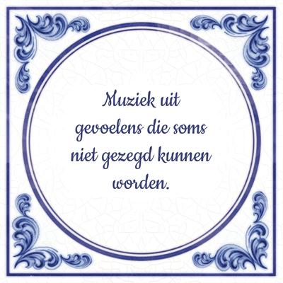 Muziek uit gevoelens die soms niet gezegd kunnen worden.