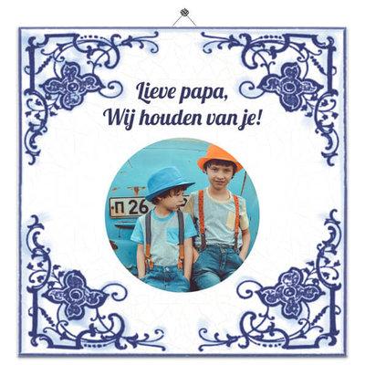 Delfts Blauw nr.23 met foto