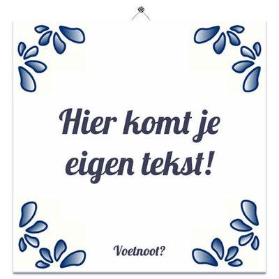 Delfts Blauw tegeltje (nr. 3)
