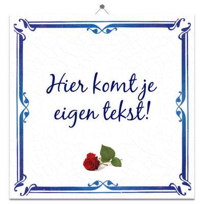 Delfts Blauw tegeltje Roos (nr.33)