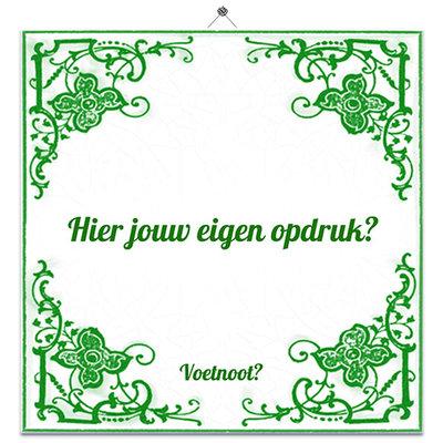 Tegeltje Vrolijk groen (nr.23)