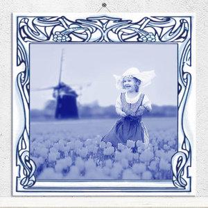 Delfts Blauw tegeltje (nr. 20)