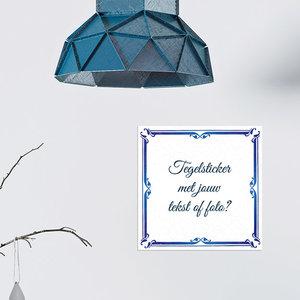 Delfts Blauw met foto TEGELSTICKER