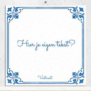 Delfts Blauw tegeltje (nr.154)