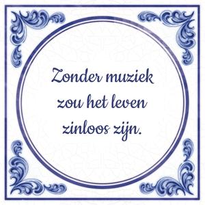 Zonder muziek zou het leven zinloos zijn.