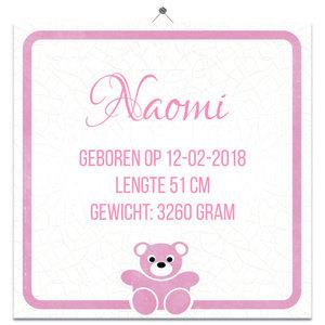 Geboorte Tegel meisje 6