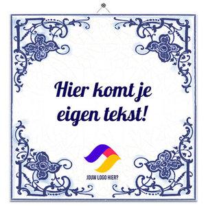 Delfts Blauw tegeltje (nr.23 met logo)