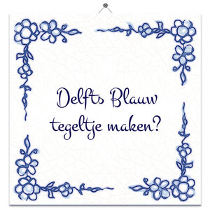 Delfts Blauw tegeltje (nr. 21)