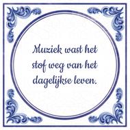 Muziek wast het stof weg van het dagelijkse leven.