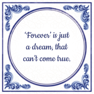 'Forever' is just a dream, that can't come true.