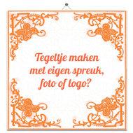 Afbeelding Oranje Tegel (bekend van TV) door Tegeltjes.com